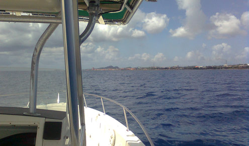 Curacao coastline from boat
